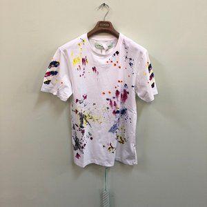 OFF-White Men Multi Color Printed White T-Shirt